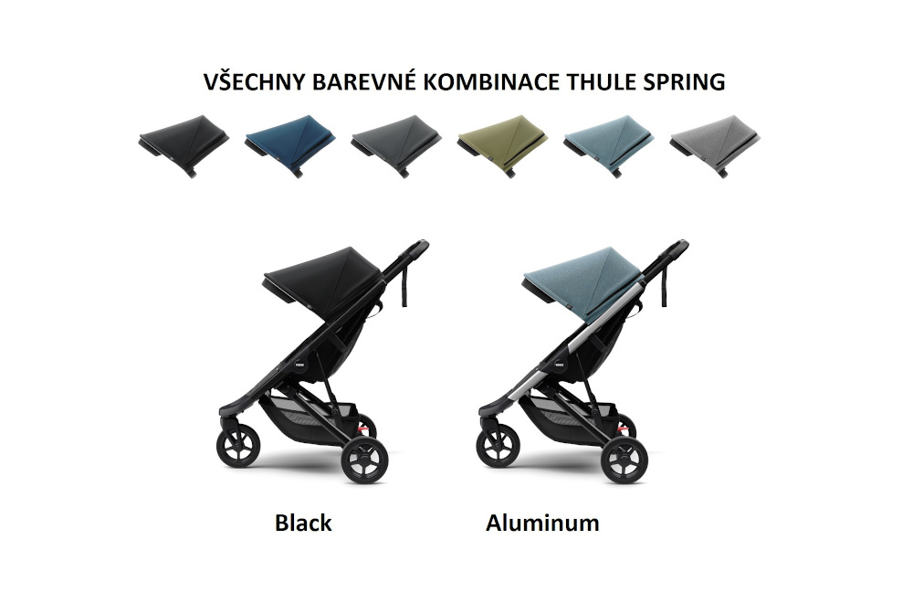 kočárek Thule Spring - přehled barev